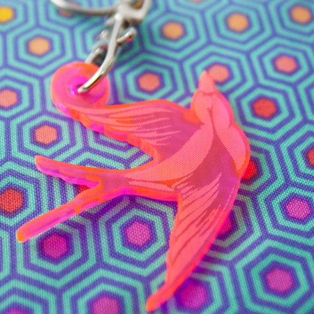 Keychain /Fob from Tula Pink (You Choose Which Kind)