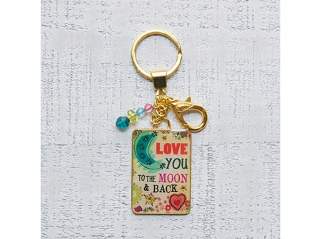 Keychain-Love You To The Moon
