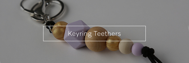 Keyring Teethers, designed and made in new Zealand