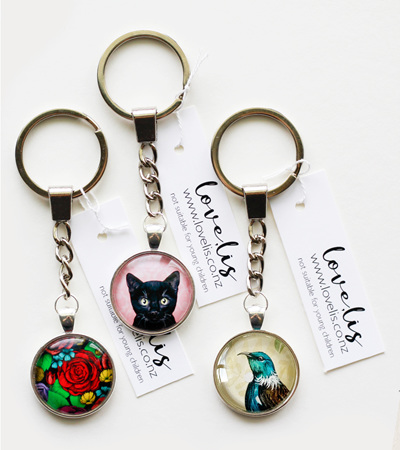 Keyrings! Love, Lis