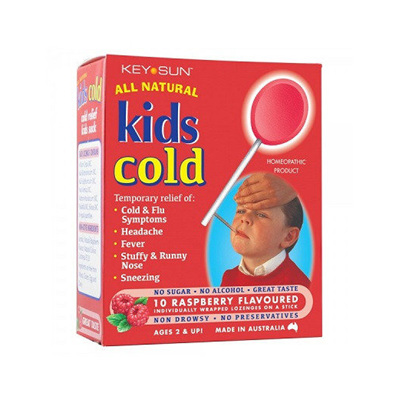 Keysun Kids Cold Lollipops 10 - Raspberry