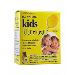 Keysun Kids Throat Lollipops 10 - Pine/Lime