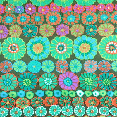 KF Collective Fall 18 Row Flowers Green