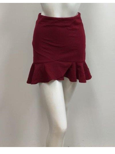 Khloe Skirt -  Burgundy