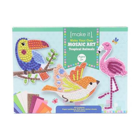 Kids DIY Make Your Own Mosaic Art: Tropical Animals