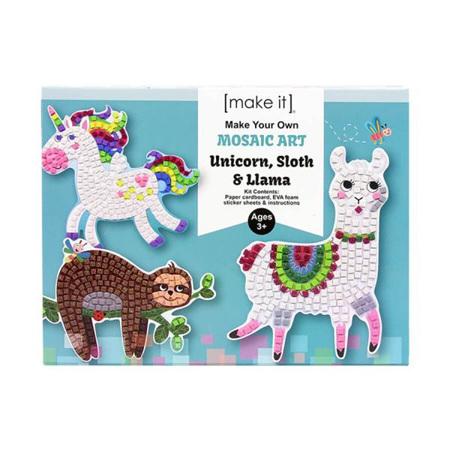 Kids DIY Make Your Own Mosaic Art: Unicorn, Sloth and Llama