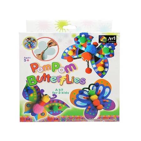 Kids DIY Pom Pom Butterflies Kit