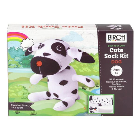 Kids DIY Sew Your Own Cute Sock Kit: Dog