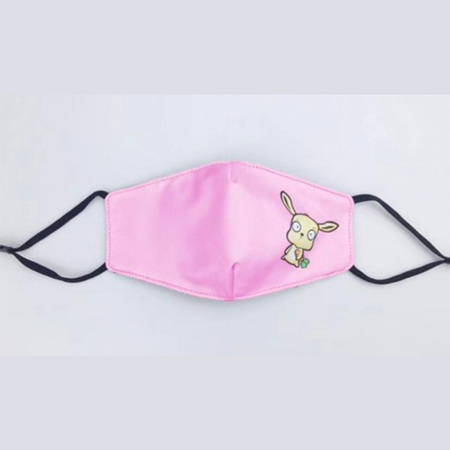 Kids Fabric Reusable Mask Pink