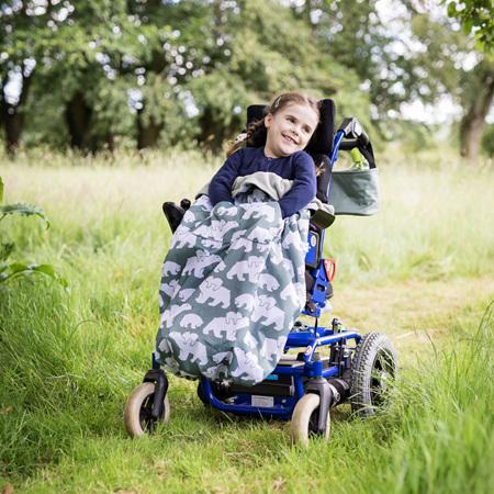 Kids Fleece-Lined Wheelchair Cosy