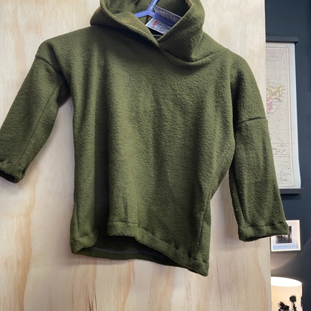 Kids Hood - Army Wool - 2 to 4 years