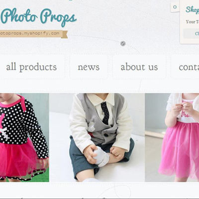 Kids Photography Clothing & Props website