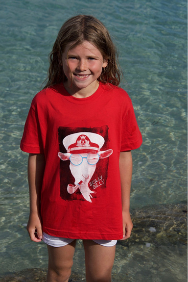 Kids' Scilly Billy Tee - Red