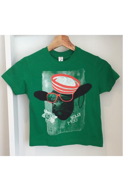 Kids' Scilly Moo Tee - Green
