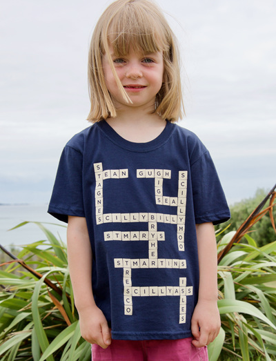 Kids' Scrabble Tee - Navy