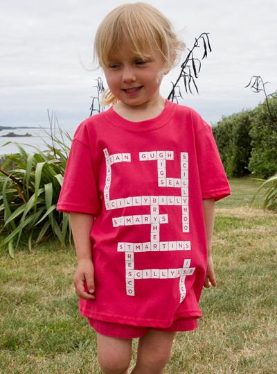 Kids' Scrabble Tee - Pink