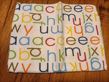 Kids Snood Face Covering Mask - Alphabet