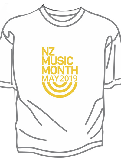 Kids/Youth White NZ Music Month Tee