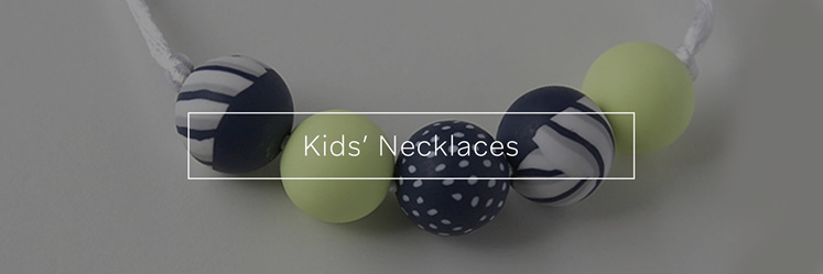 Kids'necklaces, designed and made in New Zealand.