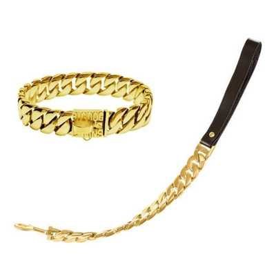Big Dog Chains - Kilo Gold Dog Collar and Leash