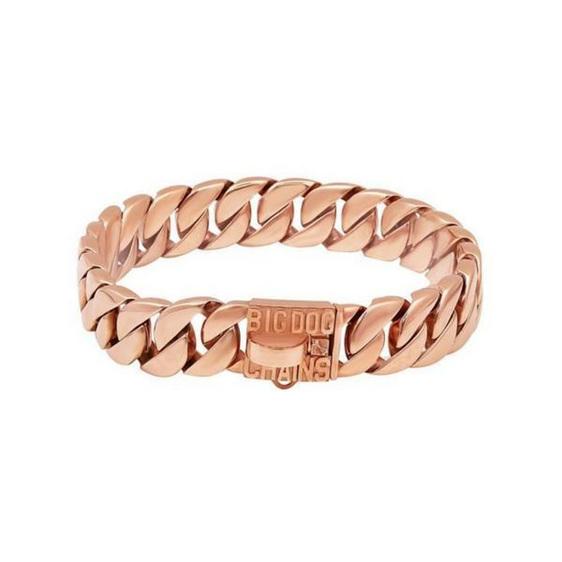 Kilo Large Cuban Link Gold Dog Collar by Big Dog Chains