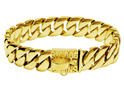 Kilo solid 10k gold cuban link dog collar by Big Dog Chains