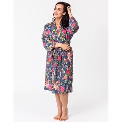 Kimono Dressing Gown - Bluestone