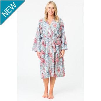 Kimono Dressing Gown - Liberty Blue