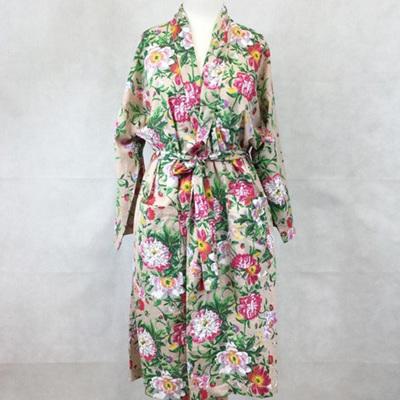 Kimono Dressing Gown - Natural