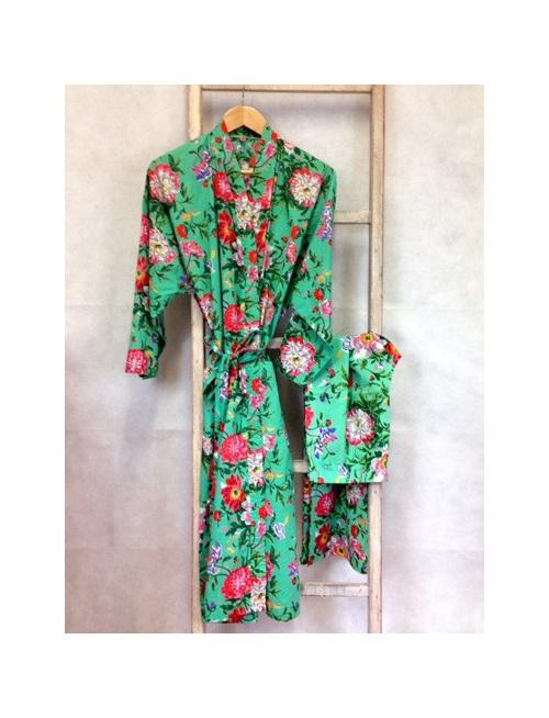 Kimono Dressing Gown - Spearmint - Little Rock Kaikoura