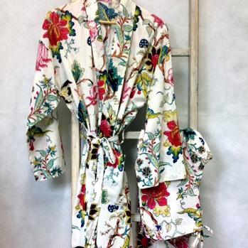 Kimono Dressing Gown - White