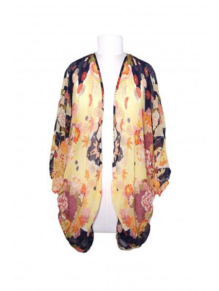 Kimono - Floral Yellow