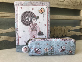 Kimono Lady Journal and Pencil Case