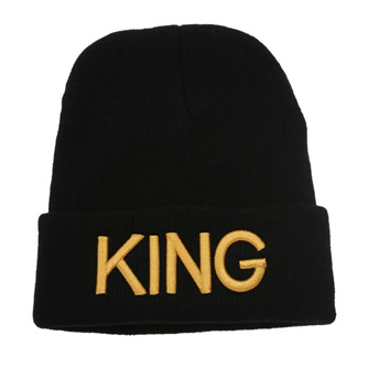 KING Beanie GOLD WRITING