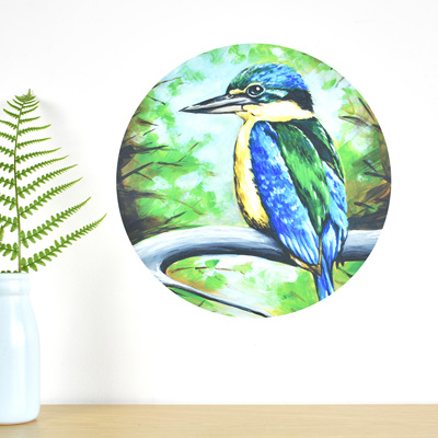 Kingfisher wall decal dot