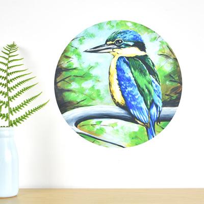Kingfisher wall decal dot