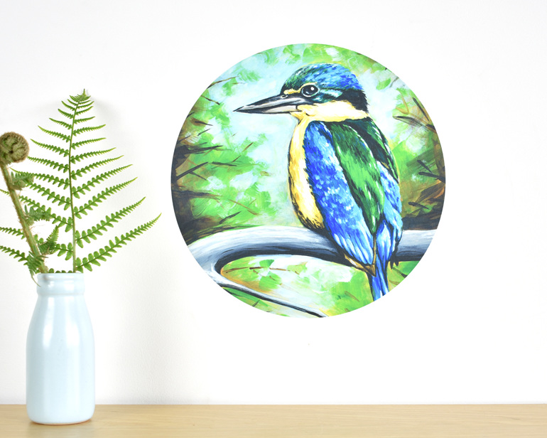 Kingfisher wall decal