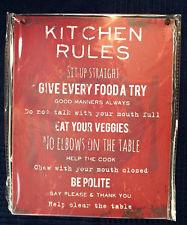 Kitchen Rules Tin sign