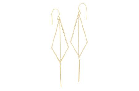 Kite Gold Hook Earrings