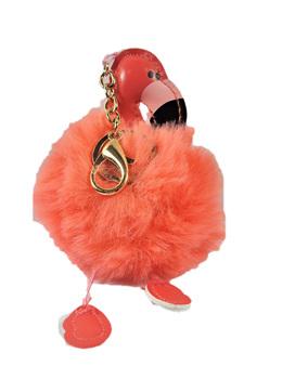 Kitsch Fluffy Flamingo Keyring