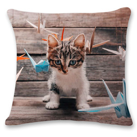 Kitty Playing Cushion Cover 1