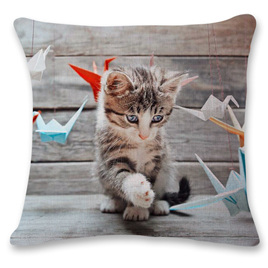 Kitty Playing Cushion Cover 2