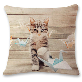 Kitty Playing Cushion Cover 4