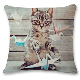 Kitty Playing Cushion Cover 5