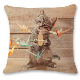 Kitty Playing Cushion Cover 6