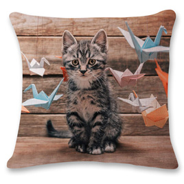 Kitty Playing Cushion Cover 7