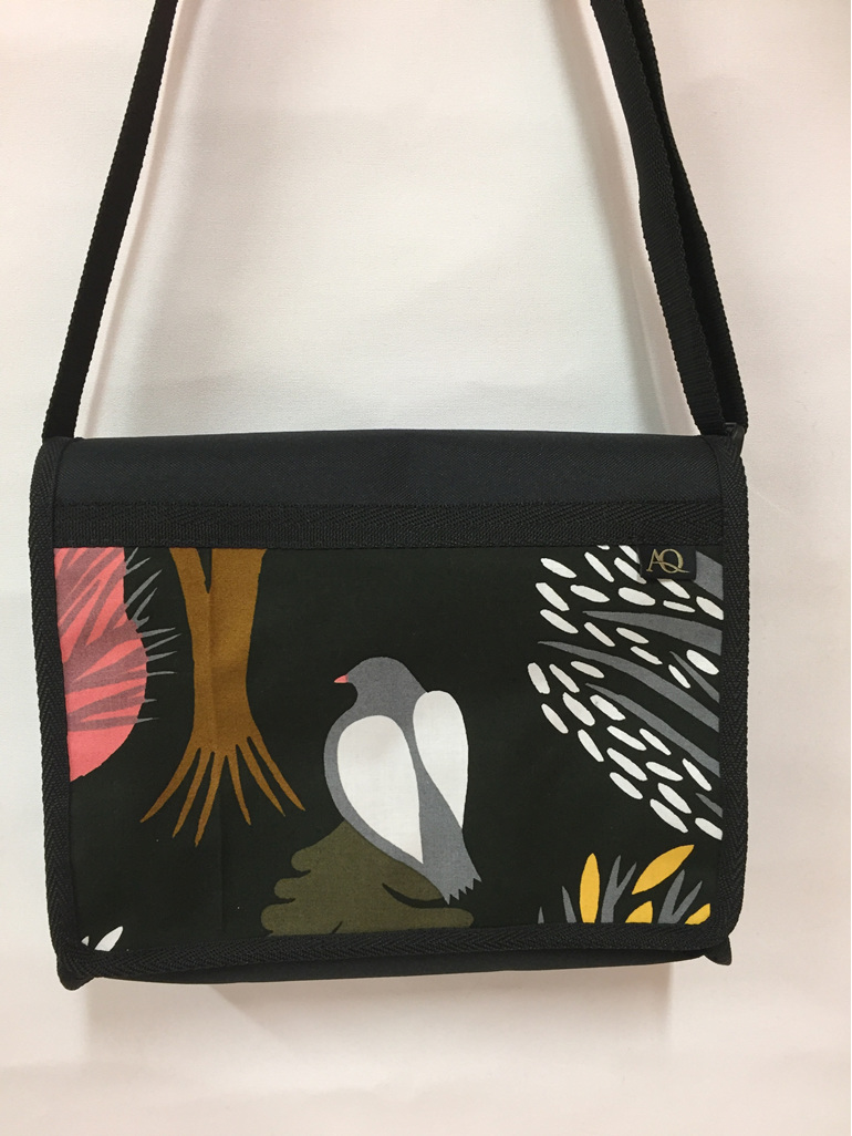 Kiwa satchel with NZ bird.  A must have designer bag.
