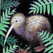 Kiwi 15x15cm New Zealand Ceramic Art Tile