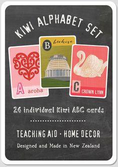 Kiwi alphabet set
