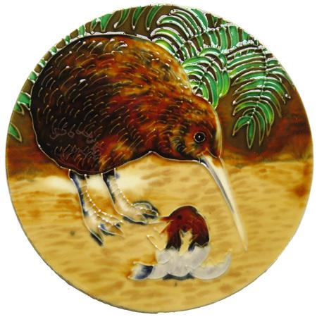 Kiwi and chick circular wall art CTC01